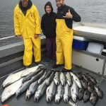 Nice catch of Halibut, Coho Salmon and Black Bass