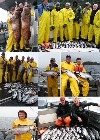 7 11 2015 Kings lots of cohos 2 whopper lingcod caught by AK residents