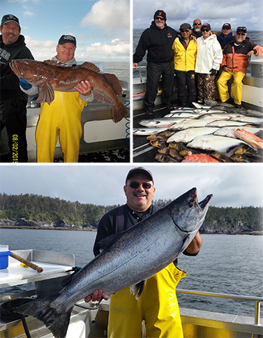 8 2 2015 Large keeper king salmon a releaser ling