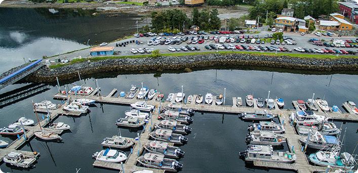 Eliason Harbor, Sitka Alaska, Fishing boats, Wild strawberry lodge, Alaska Premier Charters