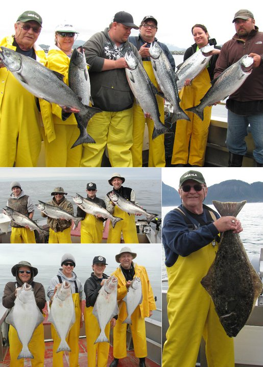 6 17 2011 Catching limits of King Salmon and Halibut makes for a great fishing day