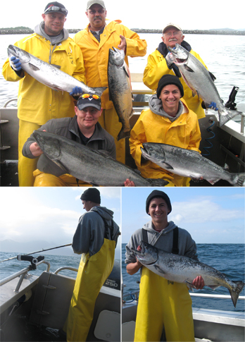 6 6 2011 Limiting on King Salmon on some choppy water wasnt a problem