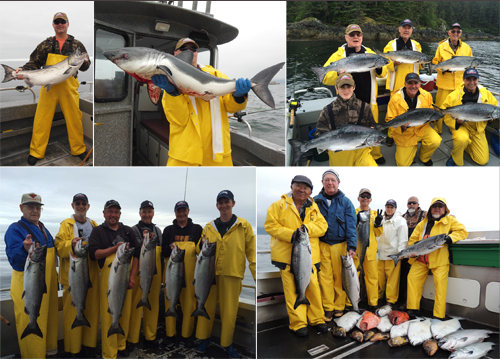 7 14 2014 Three boats had Salmon Sharks today