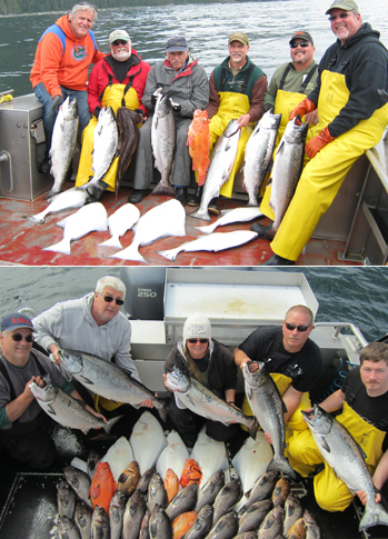7 8 2012 Limits of halibut and king salmon today