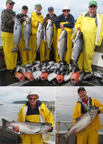 8 11 2011 Beautiful Kings and a variety pack of silvers and bottomfish