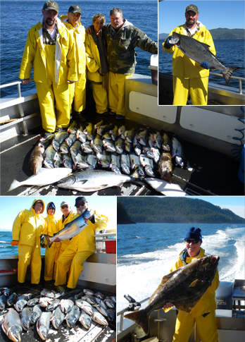 8 26 2012 Big cohos a couple kings in the Sitka sunshine