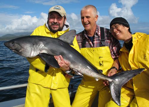 9 4 2012 George's salmon shark on 30 lb test line