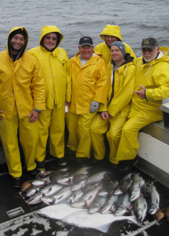 9 7 2012 A happy group with a healthy catch of silvers