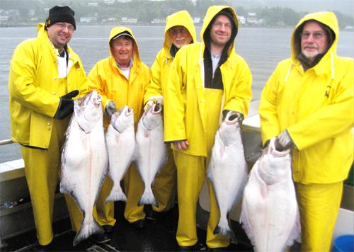 9 8 2012 Some nice halibut in the boat despite the rain