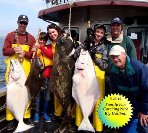 05 29 2010 Family Fun Catching Nice Big Halibut