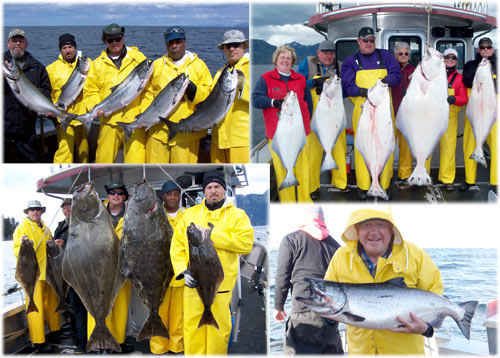 06 04 2010 Phenomenal salmon and halibut fishing today
