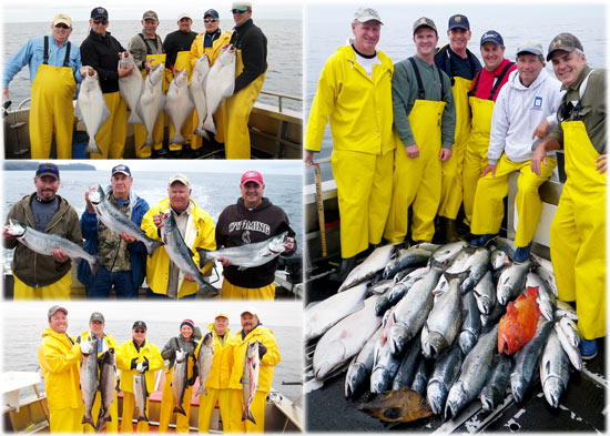 07 30 2010 Reel men Coho limits are coming in