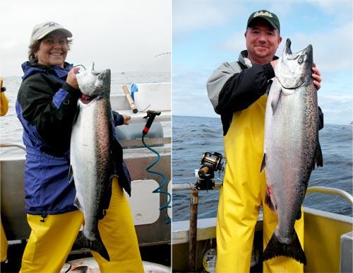 07 23 2009 First day of fishing rewarding king salmon