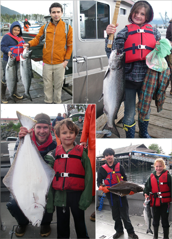 Big Brothers Big Sisters successful fishing event sponsored by the Sitka Charterboat Association