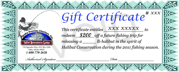 $200 off a future fishing trip coupon