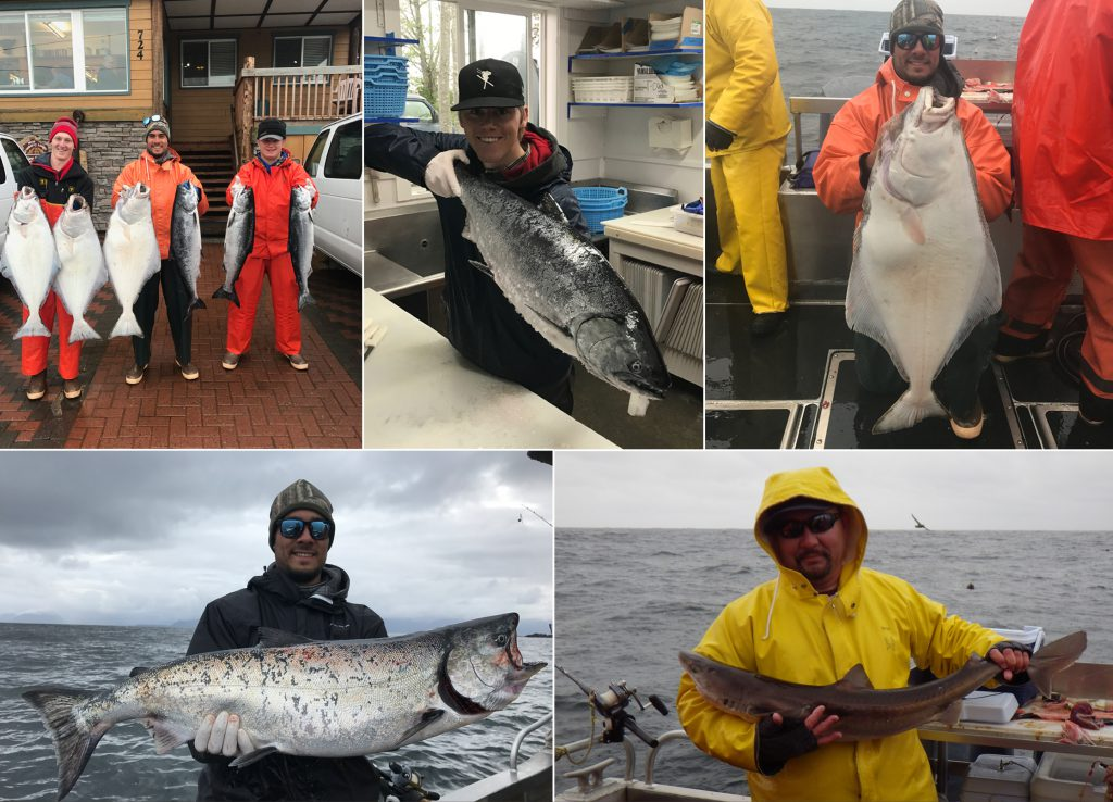 Limits of Kings and Halibut on a rough day!