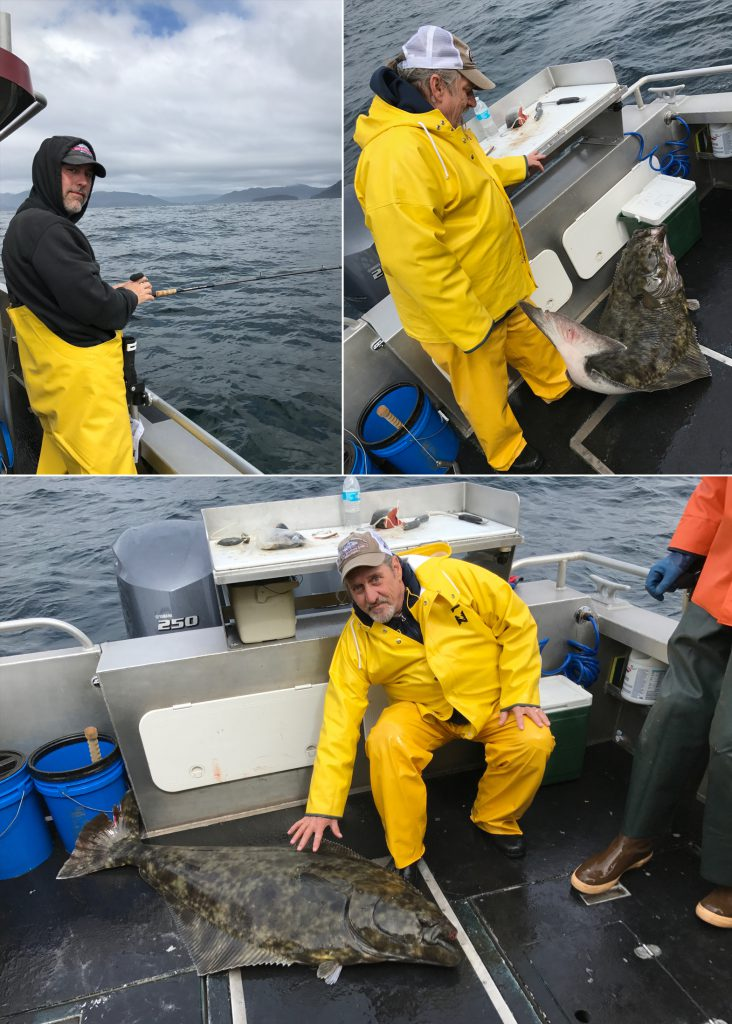05-22-2017 Catch of the Day: Petting my releaser halibut!