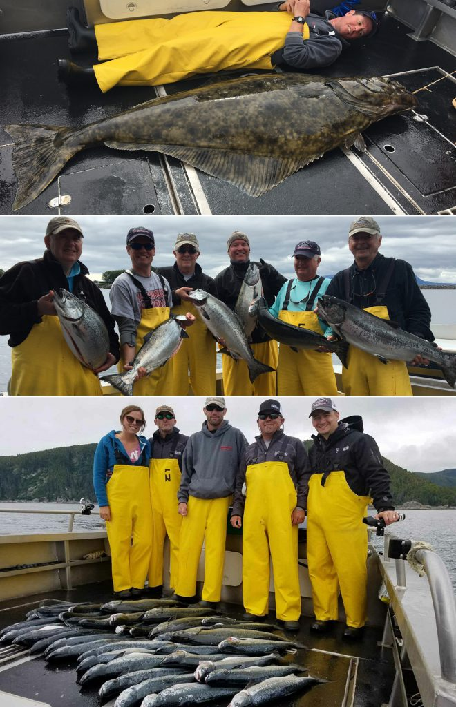 A great salmon day and a 72 in. releaser halibut!