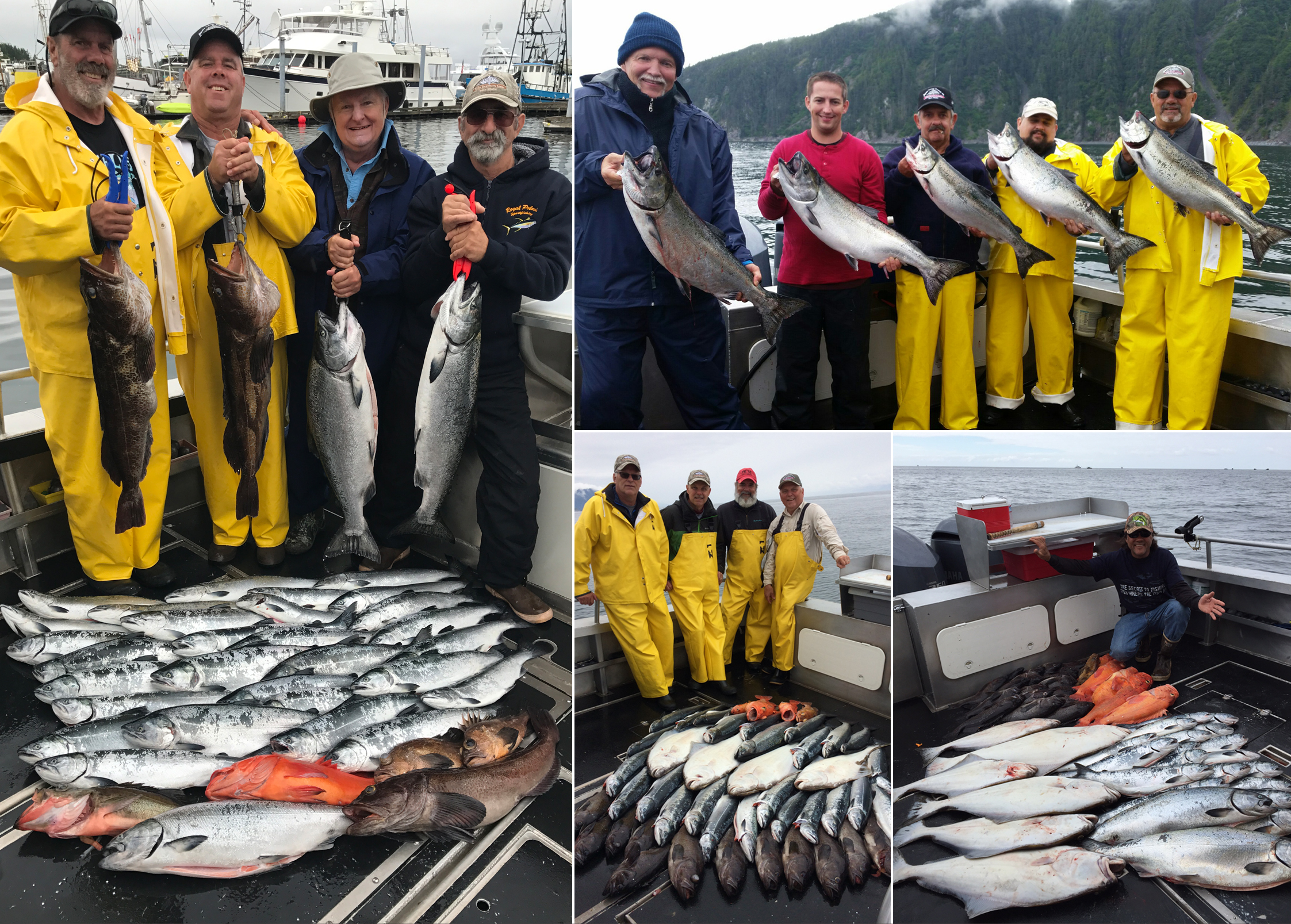 07 26 2017 happily bringing home the salmon and halibut for Sitka alaska fishing lodges