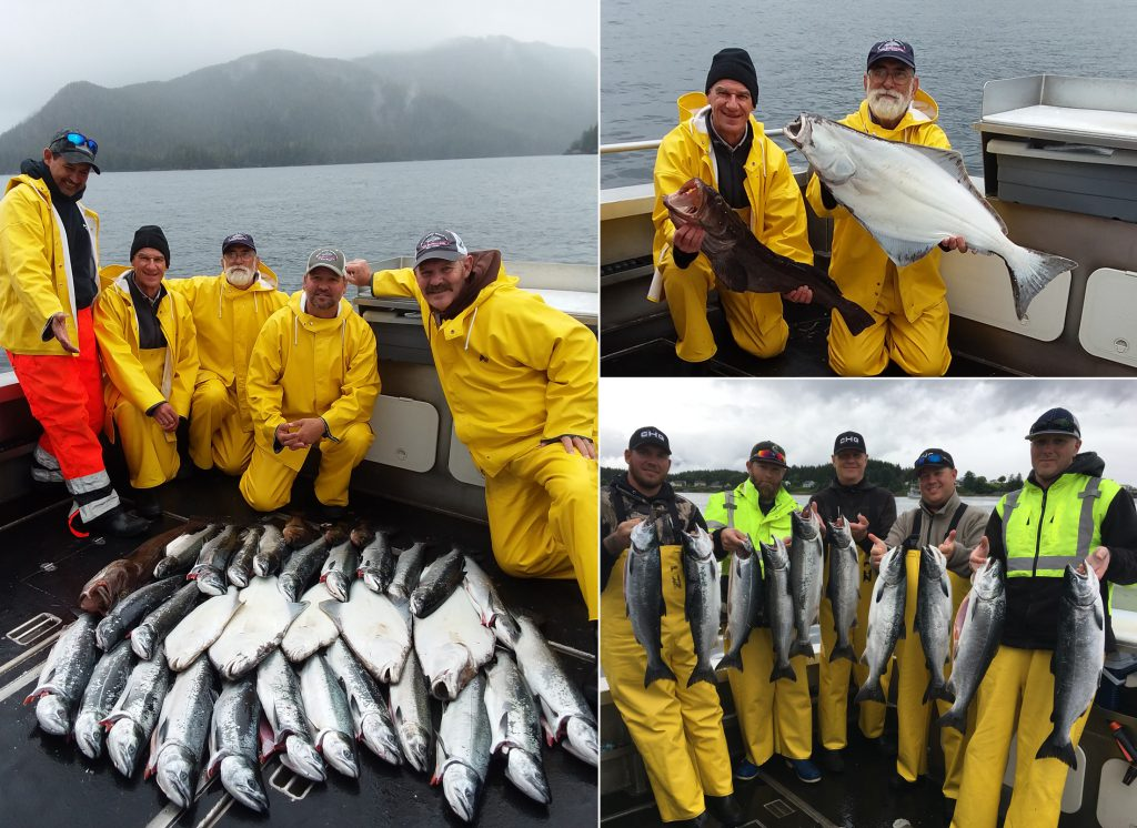 The weather didn't take away the smiles or the fish!